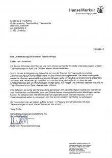 Referenzschreiben von HanseMerkur