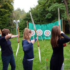 Team von Bogenschützinnen